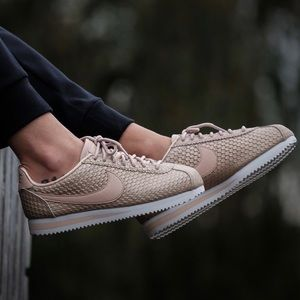 Nike Gold Fish Scale Cortez Sneakers